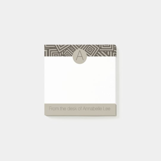 Hip to be Square Monogram Post-it Notes