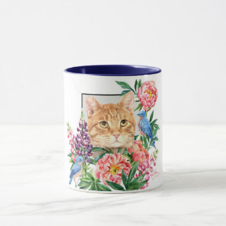Hip to be tipped orange tabby mug