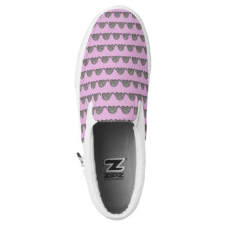 Hip tribal iconic cute spiral elephant pattern Slip-On sneakers