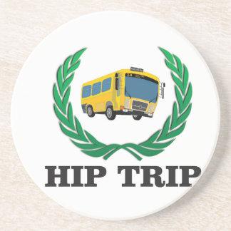 hip trip bus drink coaster