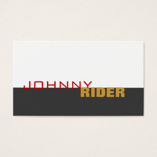 Hip Typography Business Card