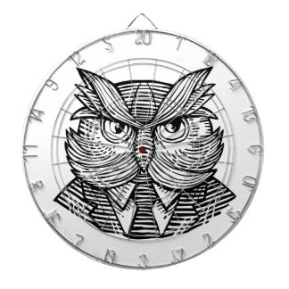 Hip Wise Owl Suit Woodcut Dartboard