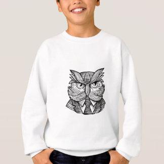 Hip Wise Owl Suit Woodcut Sweatshirt