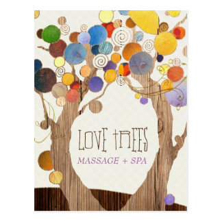 Hip Wood Textured Trees Business Postcards