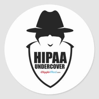 HIPAA Undercover Classic Round Sticker