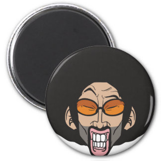 Hiphop Afro man 2 Inch Round Magnet