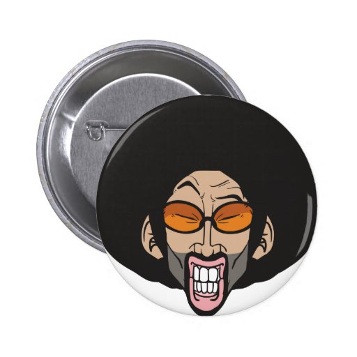 Hiphop Afro man Button