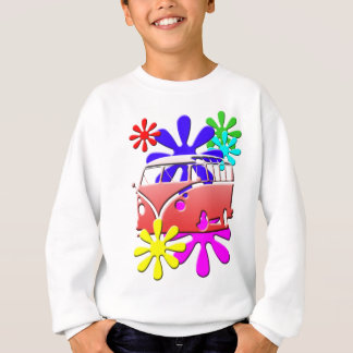 HIPPE BUS FLOWER POWER SWEATSHIRT