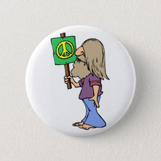 Hippie 4 Peace 2 Inch Round Button