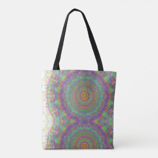 Hippie Abstract Tote Bag