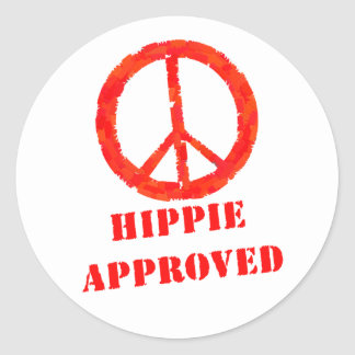 Hippie Approved Classic Round Sticker