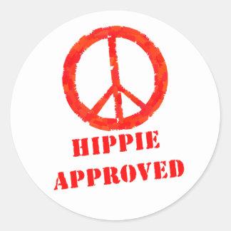 Hippie Approved Round Sticker