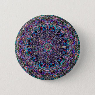 Hippie Art Psychadelic Print 2 Inch Round Button