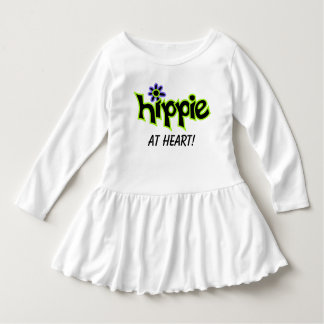 Hippie at Heart Colorful Graphic Black Word Saying Dress