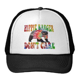 HIPPIE BADGER DON'T CARE MESH TRUCKER HAT