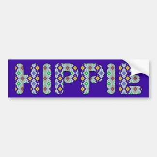 HIPPIE BUMPER STICKER