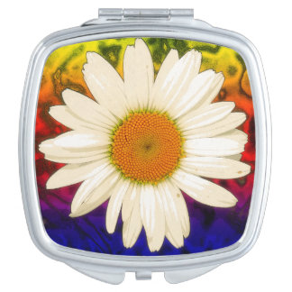 Hippie Daisy Makeup Mirror
