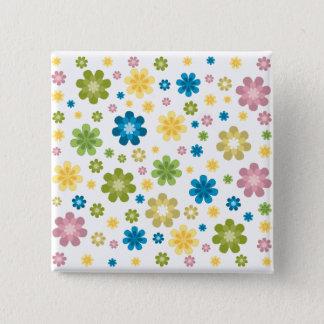 Hippie Design 2 Inch Square Button