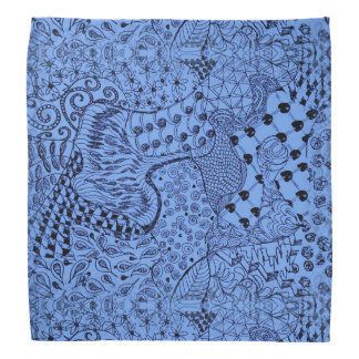 Hippie Dippie Bandana with Blue Hippie Design