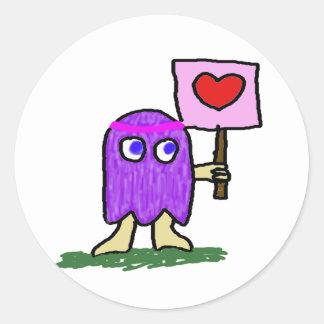 Hippie Dippy Love Round Sticker