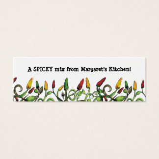 hippie doodle hot chili peppers gift tag, A SPI... Mini Business Card