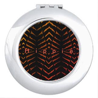 Hippie_Dressed-Up_Black-Orange-_Silver Travel Mirrors