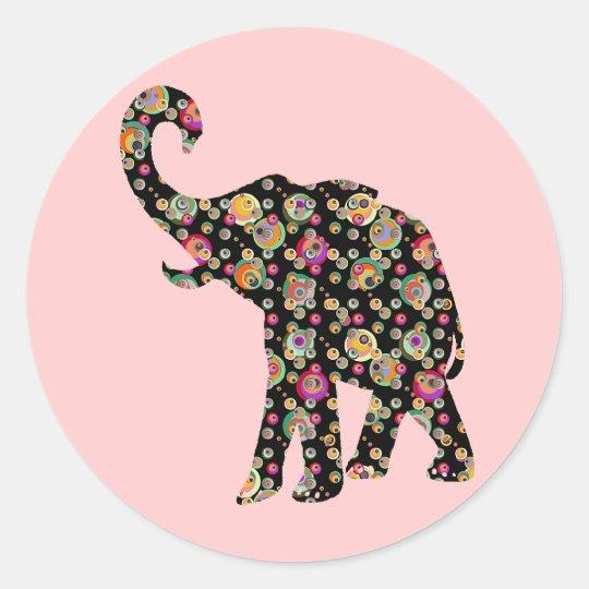 Hippie Elephant Sticker