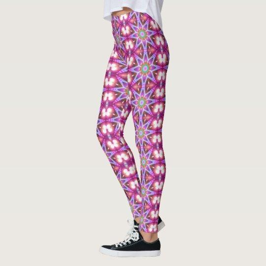 Hippie Energy Flower Mandala Leggings ★Psydefx★