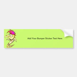 Hippie Fish Bumper Sticker