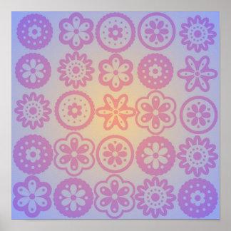Hippie Flower Design Poster