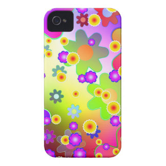 Hippie Flower Pattern iPhone 4 Case-Mate Cases