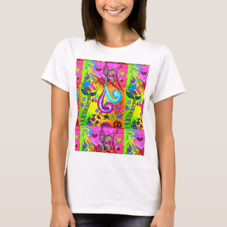 hippie flower power tshirt