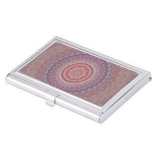 Hippie geometric mandala business card holder