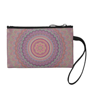 Hippie geometric mandala coin purse