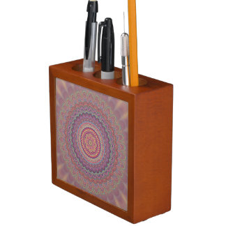Hippie geometric mandala desk organizer