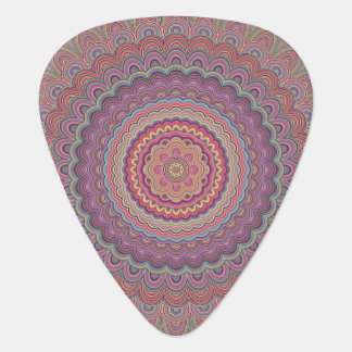 Hippie geometric mandala guitar pick