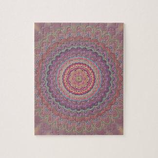 Hippie geometric mandala jigsaw puzzle