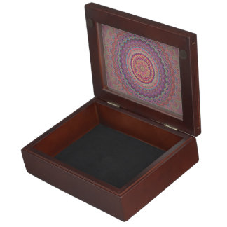 Hippie geometric mandala keepsake box
