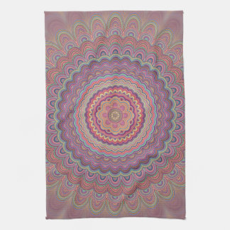 Hippie geometric mandala kitchen towel