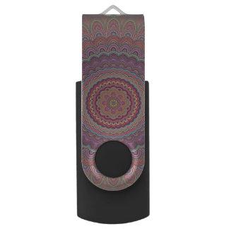 Hippie geometric mandala USB flash drive