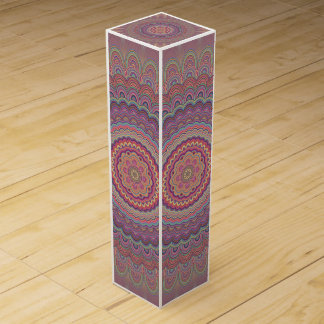 Hippie geometric mandala wine box