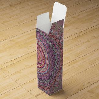 Hippie geometric mandala wine box