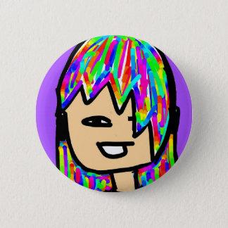 hippie girl collection 2 inch round button
