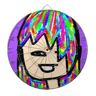 hippie girl collection dartboard