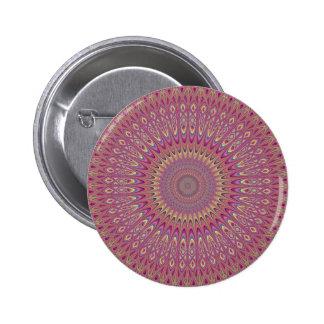 Hippie grid mandala 2 inch round button