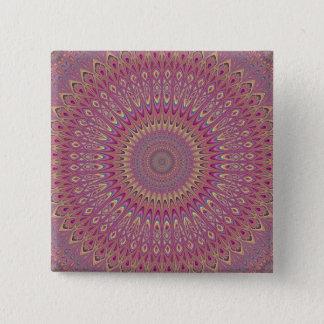 Hippie grid mandala 2 inch square button