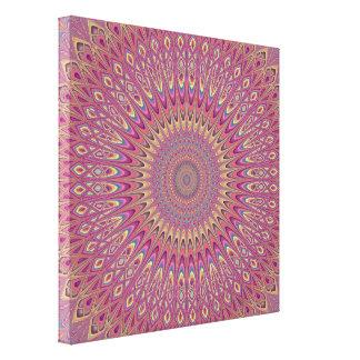 Hippie grid mandala canvas print