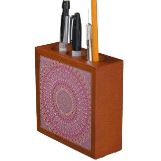 Hippie grid mandala desk organizer