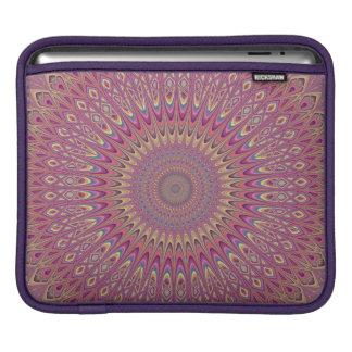 Hippie grid mandala iPad sleeve