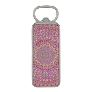 Hippie grid mandala magnetic bottle opener